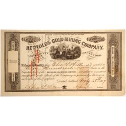 Reynolds Gold Mining Company of the city of New York Stock  #79746