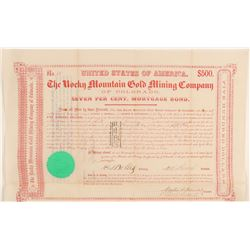 Rocky Mountain Gold Mining Company of Colorado Bond  #91827