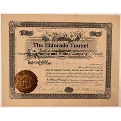 Eldorado Tunnel, Mining & Milling Company Stock Certificate  #107730