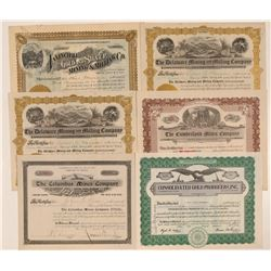 Six La Plata County, Colorado Mining Stock Certificates  #107701
