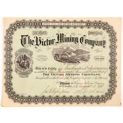 Victor Mining Company of Colorado Stock Certificate  #104389