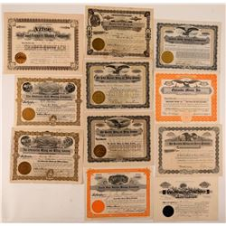 Silverton, Colorado Mining Stock Certificate Collection  #107685
