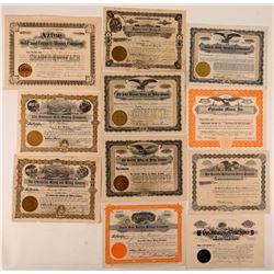 Silverton, Colorado Mining Stock Certificate Collection  #107685