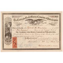 Colorado Gold Mining Company of Philadelphia Stock  #106538
