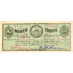 Monte Cristo Mining & Milling Co. Stock Certificate  #104450