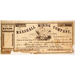 Marshall Mining Company Stock  #85248