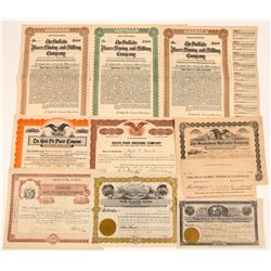 Colorado Gold Placer Mining Stock Certificates & Bonds  #104183