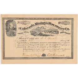 Colorado Mining & Discovery Stock  #108097