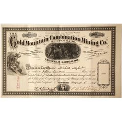 Gold Mountain Combination Mining Company of Colorado Stock  #86027