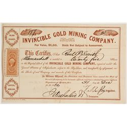 Invincible Gold Mining Company  #80458