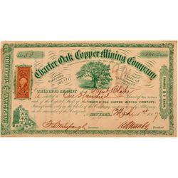 Charter Oak Copper Mining Company Stock  #104005