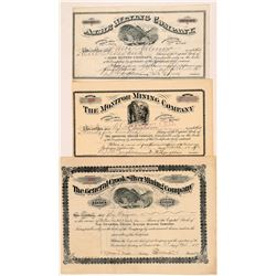 Deadwood Stock Certs (3)  #108154