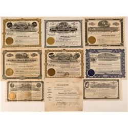 Idaho Mining Stock Certificate Collection  #107639