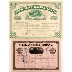 Two Maine Silver Mining Stocks: Sullivan and Stover Hill  #81955