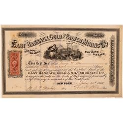 East Bannack Gold & Silver Mining Co. Stock Certificate  #107706