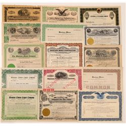 15 Different Helena-area, Montana Mining Stock Certificates  #107111