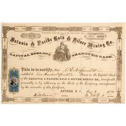Batavia Gold & Silver Mining Company Stock  #80464