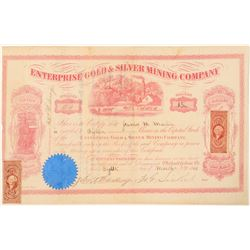 Enterprise Gold & Silver Mining Co. Stock Certificate  #91549