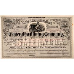 First North Extension Esmeralda Mining Co. Stock Certificate  #107721