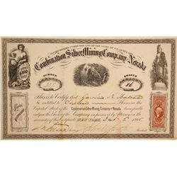 Combination Silver Mining Company of Nevada Stock  #90512