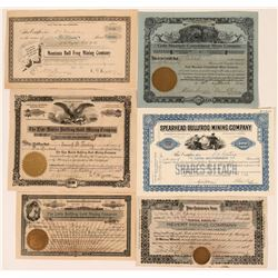 Bullfrog, Nevada Stock Certificate- Group 1  #110057