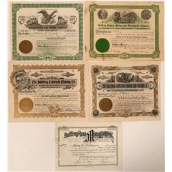 Bullfrog, Nevada Stock Certificates- Group 11  #110236