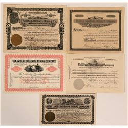 Bullfrog, Nevada Stock Certificates- Group 5  #110061
