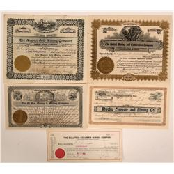 Bullfrog, Nevada Stock Certificates- Group 7  #110063