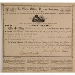 La Plata Liver Mining Company of Nevada Bond (loan)  #90509