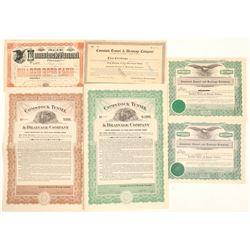 Comstock Tunnel & Drainage Co. Stock & Bond Collection  #102197
