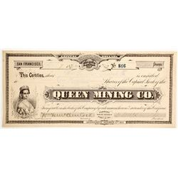 Queen Mining Company Stock - GT Brown Lithographer  #88120