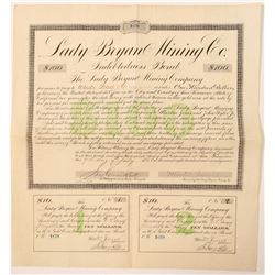 Lady Bryan Mining Company Bond Printed by G.T. Brown  #91548
