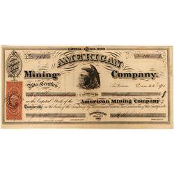 American Mining Company Stock  #91944