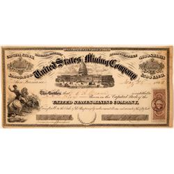 United States Mining Company Stock Certificate  #107738