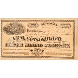 Ural Cons. Silver Mining Co. Stock Certificate (GT Brown Lith.)  #100959