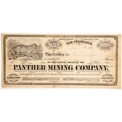 Panther Mining Company Stock - GT Brown Lithographer.   #88119