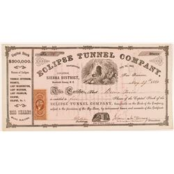 Eclipse Tunnel Company Stock Certificate  #104378