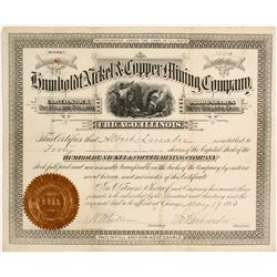 Humboldt Nickel & Copper Mining Company Stock  #81614