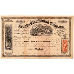 Nevada Star Mining Company Stock Certificate  #100992