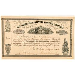Seminole Silver Mining Company Stock Certificate  #100963