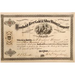 Humboldt River Gold & Silver Mining Co. Stock Certificate  #104443