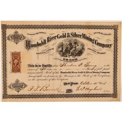 Humboldt River Gold & Silver Mining Co. Stock Certificate  #107737