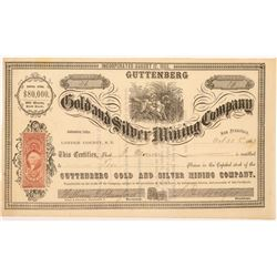 Guttenberg Gold & Silver Mining Company Stock Certificate  #107038