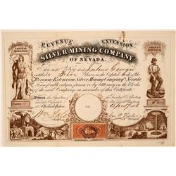 Revenue Extension Silver Mining Co. of Nevada Stock Certificate  #107743