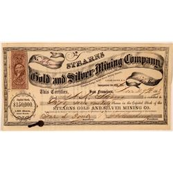 Stearns Gold & Silver Mining Company Stock Certificate  #107744