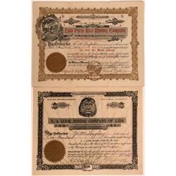 Two Rare Lida, Nevada Mining Stocks  #110084
