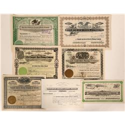 Rare Group of Tonopah, Nevada Mining Stocks #2  #110327