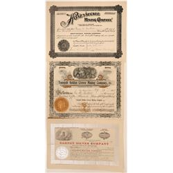 Three Fantastic and Rare Tonopah, Nevada Mining Stocks  #110322