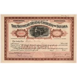 Very Rare Tonopah Mining Company of Nevada Stock, Uncancelled, Issued in 1911  #110319