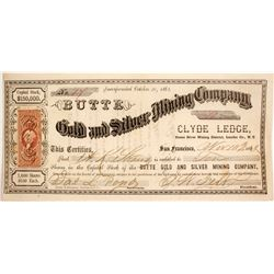 Butte Gold and Silver Mining Company Stock  #84522